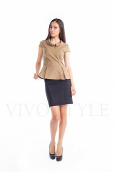 Блуза с баской 10268-3