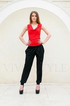Блуза женская со сборкой 10274-5