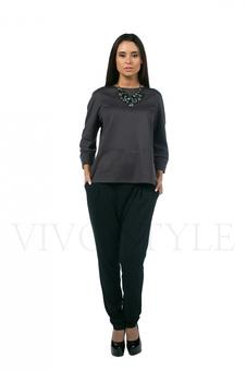 Блуза женская с укороченным рукавом 10291-1