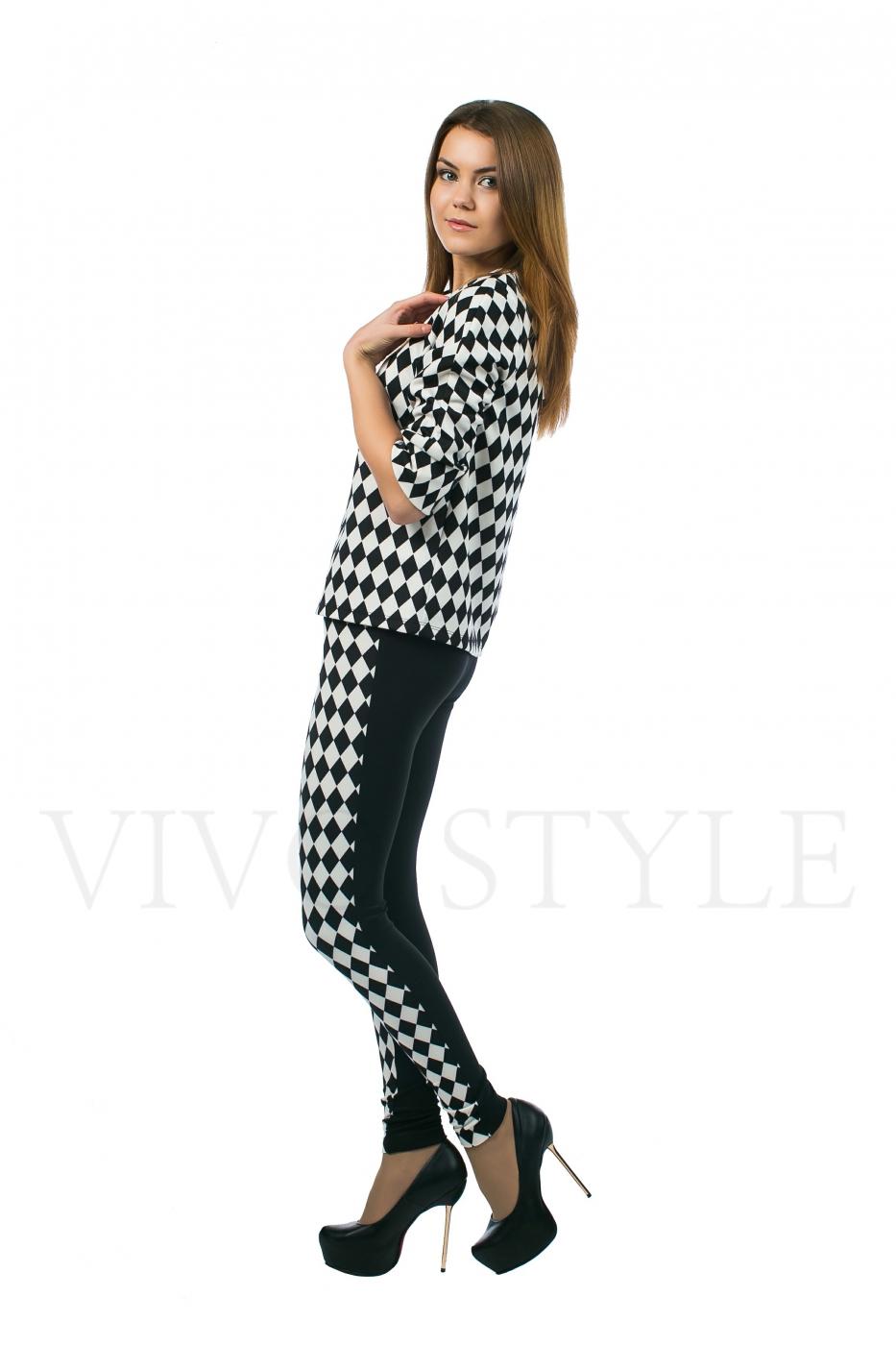 Блузка в классическом сочетании черного и белого