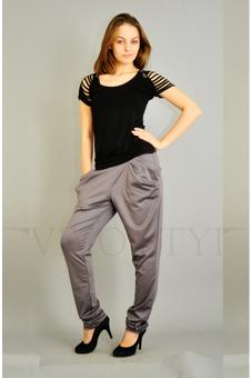 Серые женские брюки 30080-1