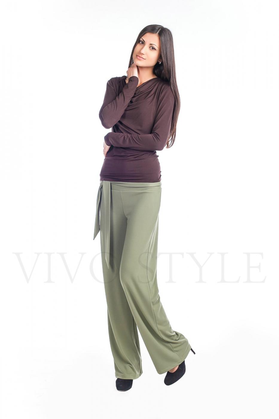 женские штаны из струящейся ткани