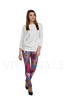 Облегающие брюки с рисунком 30121-4
