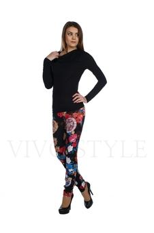 Облегающие брюки с рисунком 30121-7