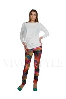 Облегающие брюки с рисунком 30121-3