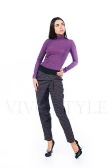 Оригинальные серые брюки с драпировкой 30500-3