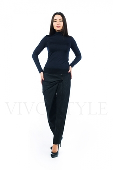 Оригинальные серые брюки с драпировкой 30500-6