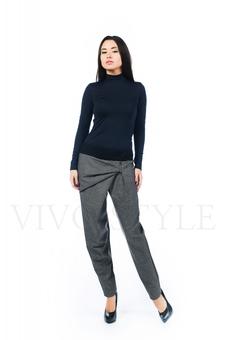 Оригинальные серые брюки с драпировкой 30500-5