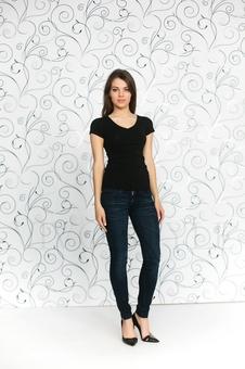 Женская трикотажная футболка 10242-1