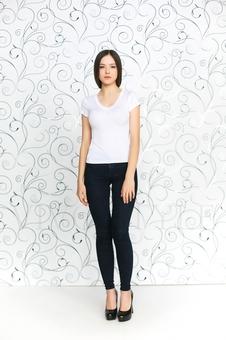 Женская трикотажная футболка 10242-2