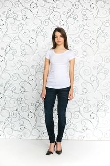 Женская футболка с рукавом 10256-1