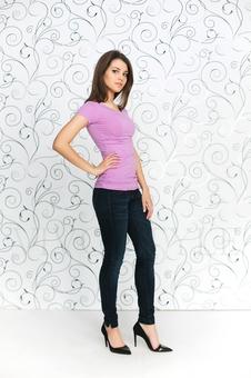 Женская футболка с рукавом 10256-3