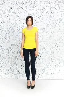 Женская футболка с рукавом 10256-4