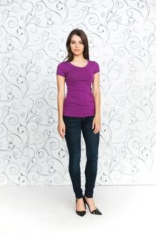 Женская футболка с рукавом 10256-5