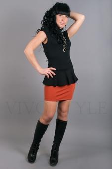 Юбка женская с баской 40057-4