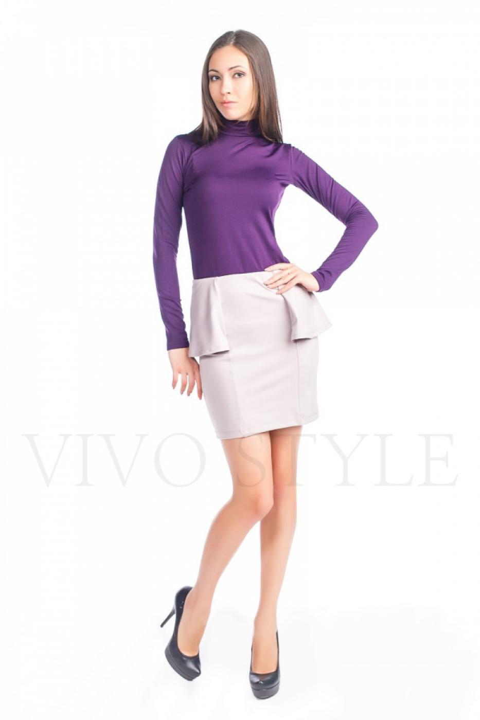 Трикотажная женская юбка с рельефами