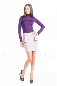 Трикотажная женская юбка с рельефами 40069-1