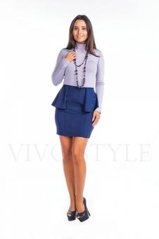 Трикотажная женская юбка с рельефами 40069-2