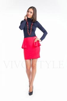 Трикотажная женская юбка с рельефами 40069-4