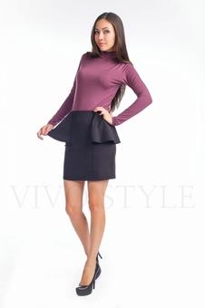 Трикотажная женская юбка с рельефами 40069-3