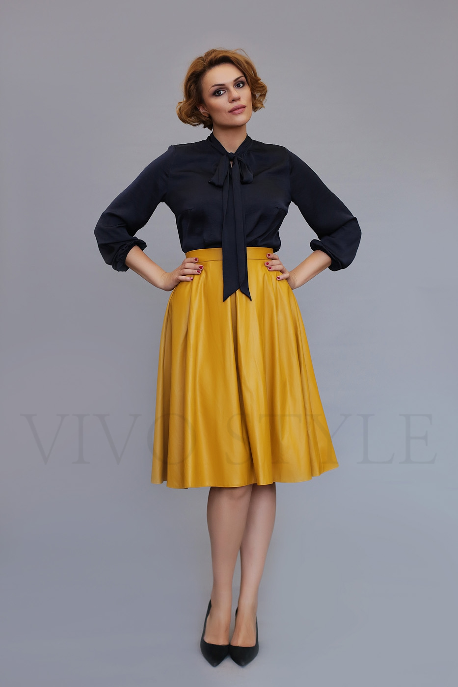 офисная юбка с карманами