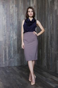 Женская юбка классического кроя 40100K-2