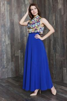 Длинная женская юбка с завышенной талией 40101K-1