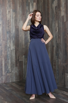 Длинная женская юбка с завышенной талией 40101K-3