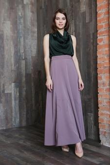 Длинная женская юбка с завышенной талией 40101K-4