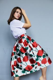 Юбка с цветочным принтом 46005-1