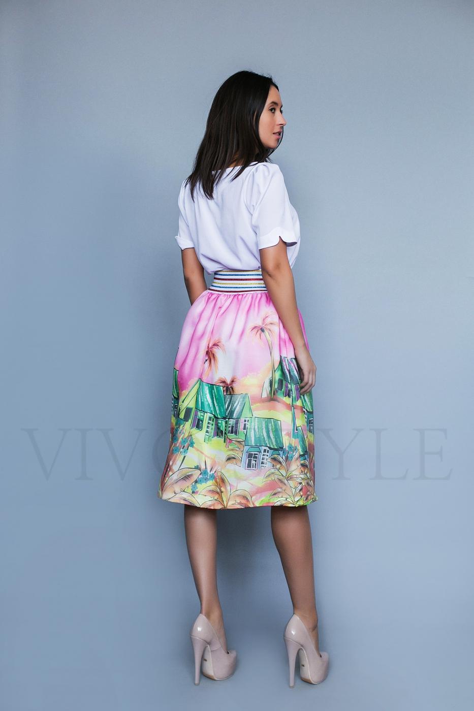 Женская юбка с купонным рисунком