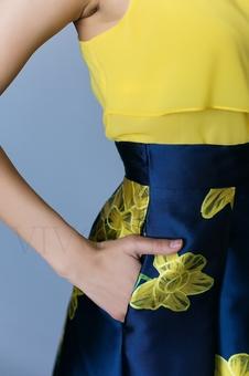 Женская юбка «колокол» с высокой талией 46011-1