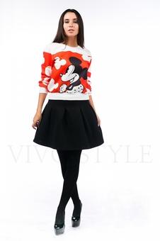 Женский костюм с черной юбкой 26090-1