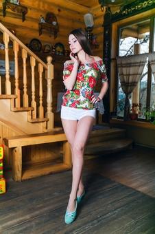 Блуза с рукавом реглан 10159-6