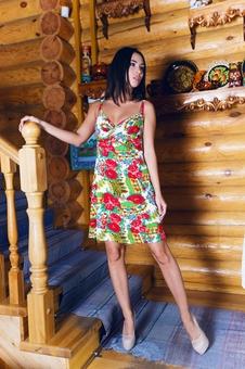 Матрешка платье с принтом
