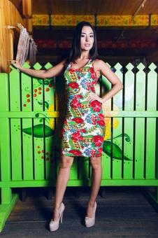 Одежда матрёшка платье приталенное