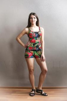 Короткие шорты матрешка 30086-9