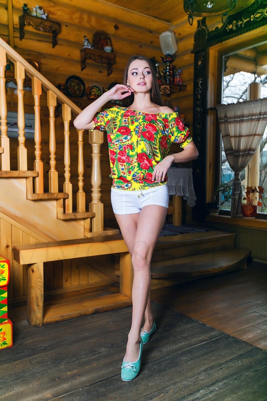 Блуза с рукавом реглан