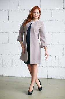 Женское однотонное пальто 70234-1