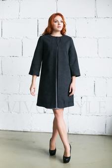 Женское однотонное пальто 70234-2