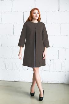 Женское однотонное пальто 70234-3