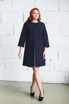 Женское однотонное пальто 70234-4