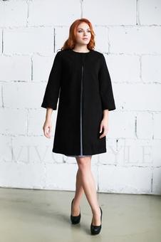 Женское однотонное пальто 70234-5