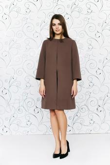 Женское однотонное пальто 70234-6