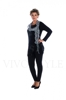 Туника с шарфом 16021-1