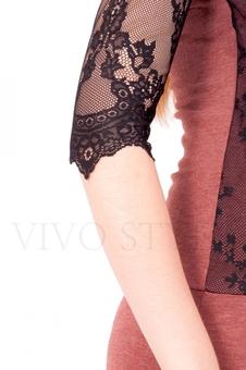 Платье нарядное из трикотажа и кружева 20077-1