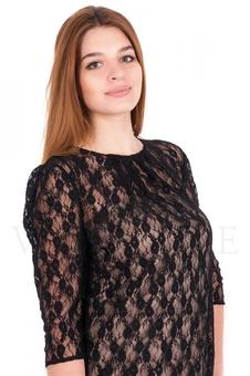 Платье с гипюровым верхом 20078-1