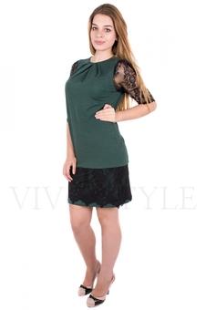 Платье с гипюром 20079-1