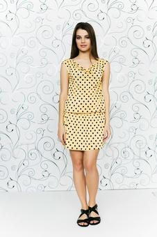 Платье с драпировкой 20103-7