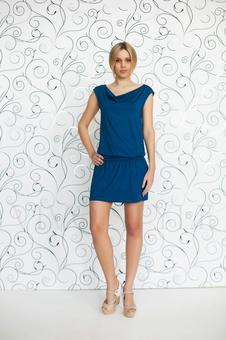 Платье с драпировкой 20103-8